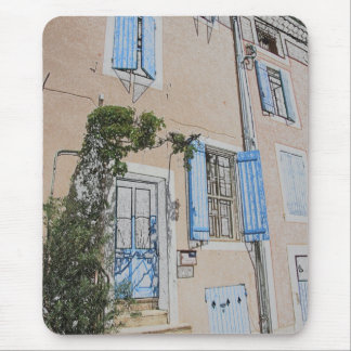 house in typical provencal style in France Mouse Pad