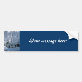 House in Winter Bumper Sticker