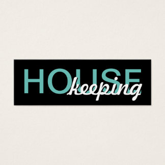 house keeping punch card