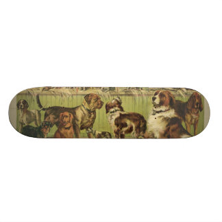 House Kennel and Field by Currier & Ives 1893 Skate Deck