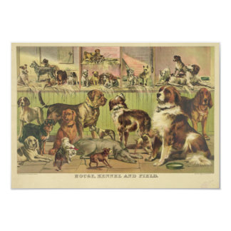 House Kennel and Field by Ives 1893 Card