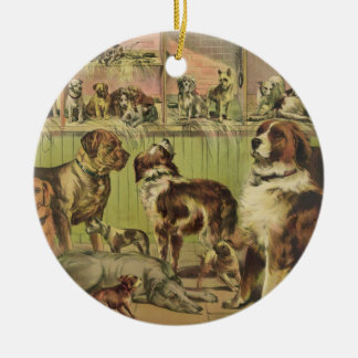 House Kennel and Field by Ives 1893 Ceramic Ornament