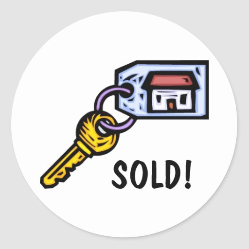 House Key Classic Round Sticker