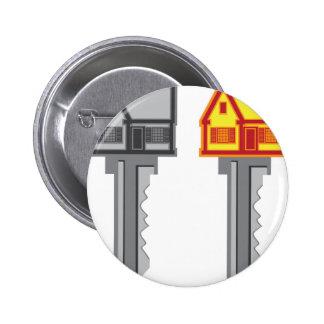 House Key Pinback Button