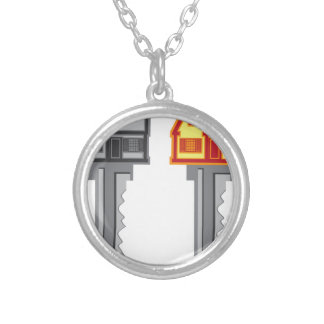 House Key Silver Plated Necklace