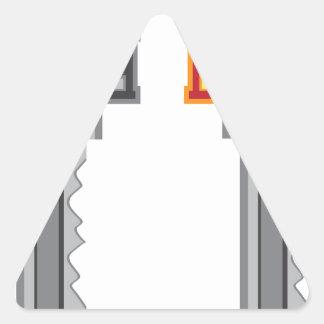 House Key Triangle Sticker