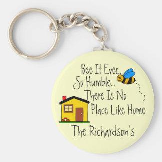 House Keys-Personalize It! Basic Round Button Keychain