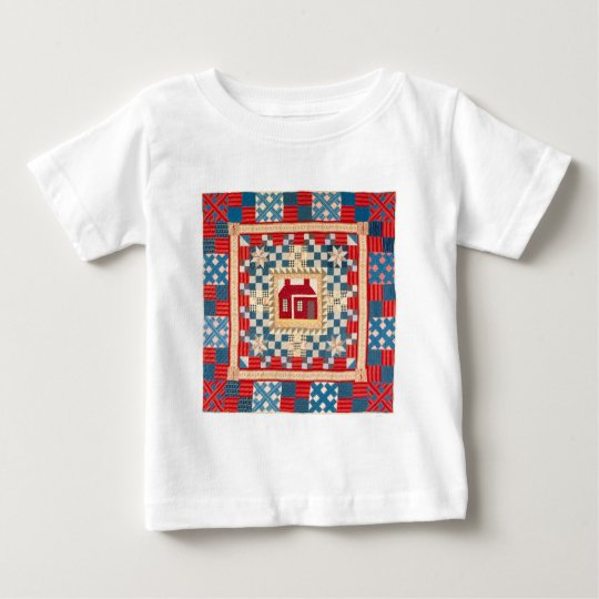 House Medallion Quilt with Multiple Borders Baby T-Shirt
