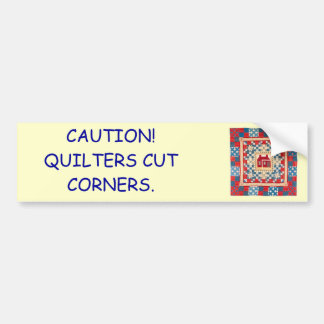 House Medallion Quilt with Multiple Borders Car Bumper Sticker