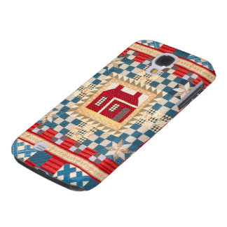 House Medallion Quilt with Multiple Borders Galaxy S4 Cases
