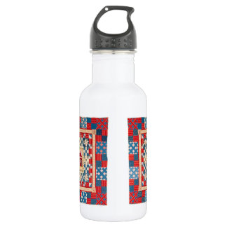 House Medallion Quilt with Multiple Borders Stainless Steel Water Bottle