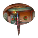 House - Metuchen, NJ - That yule tide spirit Oval Cake Toppers