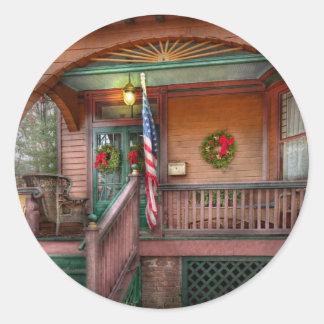 House - Metuchen, NJ - That yule tide spirit Classic Round Sticker