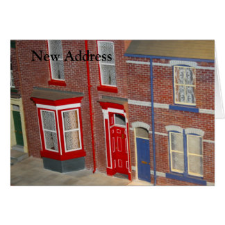 House Models New Address Card