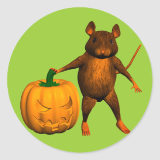 House Mouse Classic Round Sticker