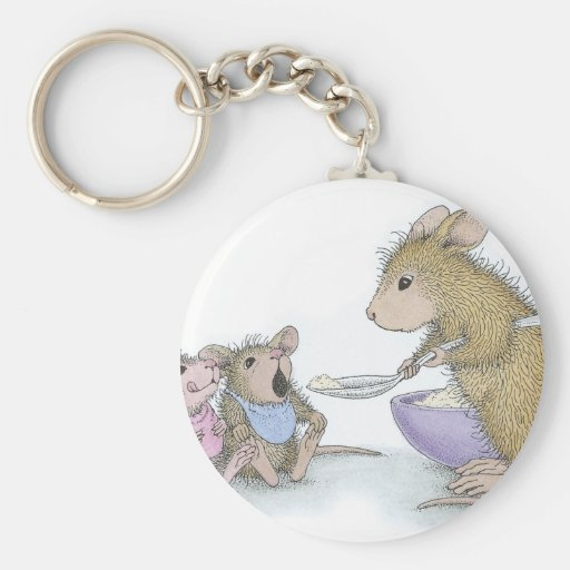 House-Mouse Designs® Basic Round Button Keychain