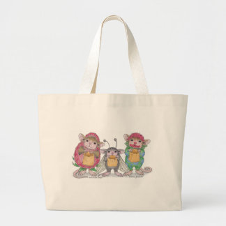 House-Mouse Designs® - Jumbo Tote Canvas Bags