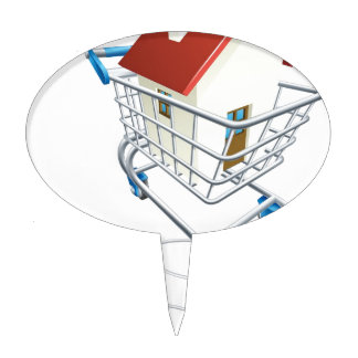 House mouse trolley concept cake topper
