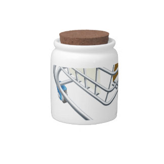 House mouse trolley concept candy jar