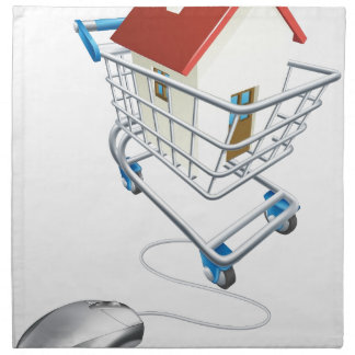 House mouse trolley concept napkin