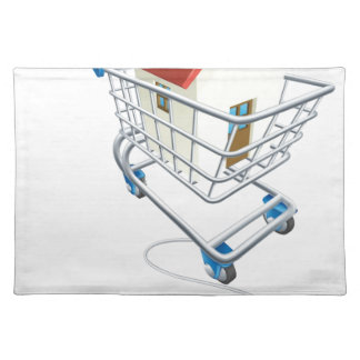 House mouse trolley concept place mat