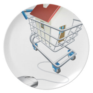 House mouse trolley concept party plate
