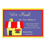 """House Moving Announcement 5"""" X 7"""" Invitation Card"""