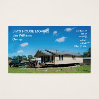 House moving side business card