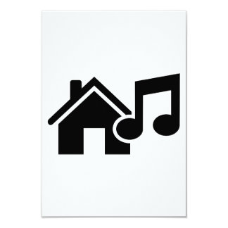 House music note card