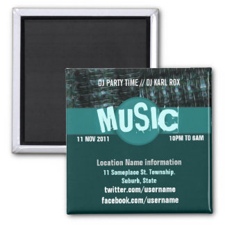 House Music Party Event Promotional  Magnet