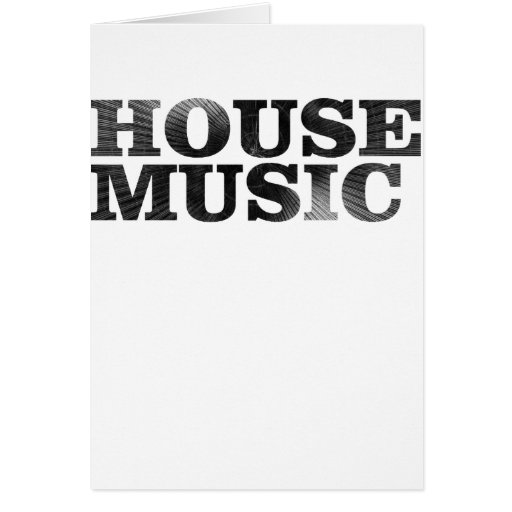 House Music Spiral Text Greeting Card