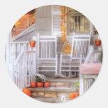 House - My Aunts porch Classic Round Sticker