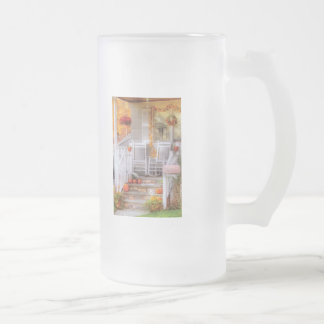 House - My Aunts porch 16 Oz Frosted Glass Beer Mug