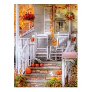 House - My Aunts porch Postcard