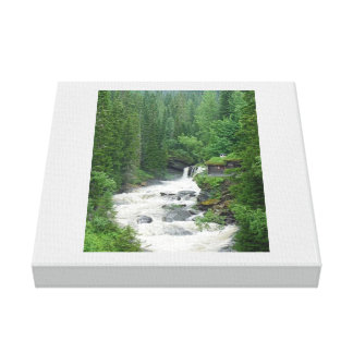 House Near the Rapid Brook, Wrapped Canvas