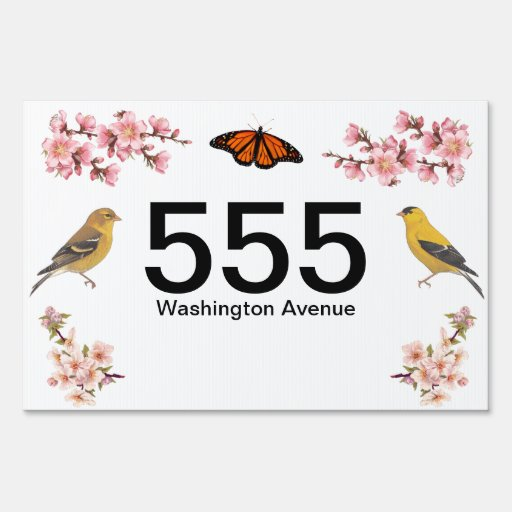 House number yard sign zazzle - House number signs for yard ...