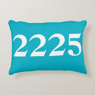 House Numbers Decorative Pillow