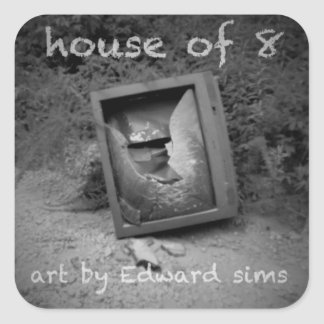 house of 8 art stickers