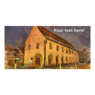 House of Arts painting, Sibiu Customized Photo Card