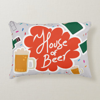 House of Beer Decorative Pillow