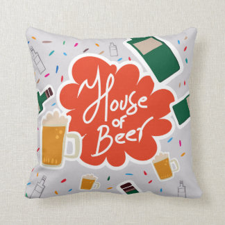 House of Beer Throw Pillow