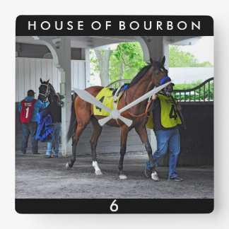 House of Bourbon by Hardspun Square Wall Clock