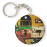 House of Cats Full Moon Keychain