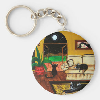 House of Cats Full Moon Key Chains