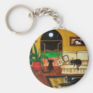 House of Cats Full Moon Keychain