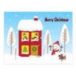 House of Christmas Postcard