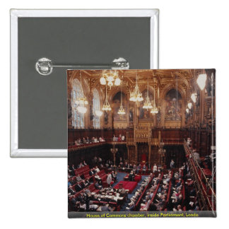 House of Commons chamber, inside Parliament, Londo Pinback Buttons