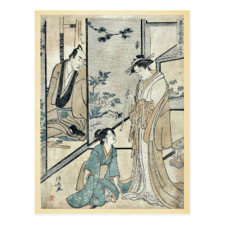 House of Daifuku by Torii, Kiyonaga Ukiyoe Postcard