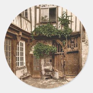 House of Francis I, Abbeville, France vintage Phot Sticker
