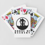 House of Geekery Logo + Name Bicycle Poker Deck